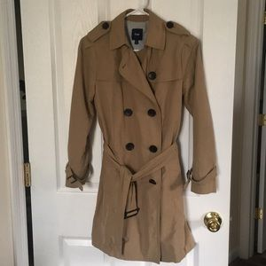 GAP Petite XS Tan Lightweight Trench EUC